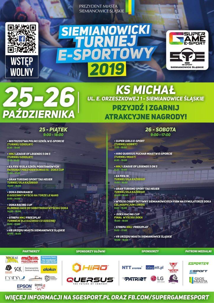 Siemianowicki Turniej E-Sportowy 2019 – Główny Cel zawodów to pozyskanie środków na zakup konsoli ps4 z osprzętem dla podopiecznych Oddziału Dziecięcego Hospicjum Cordis