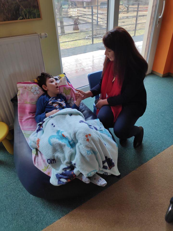 Pani Izabela Domogała – Członek Zarządu Woj. Śląskiego – w Hospicjum Cordis