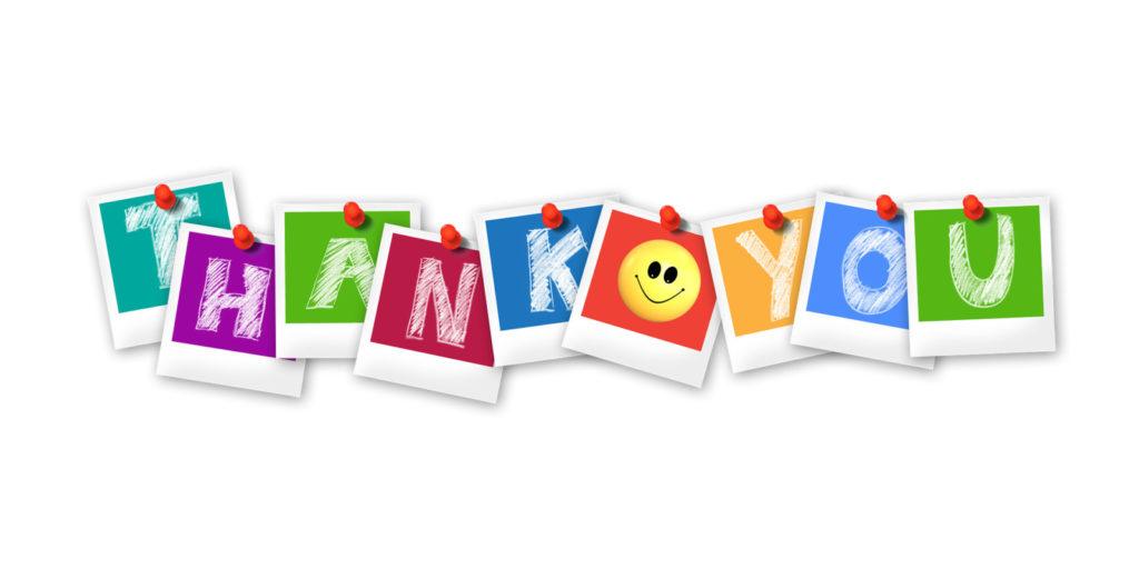 Podziękowania za wsparcie